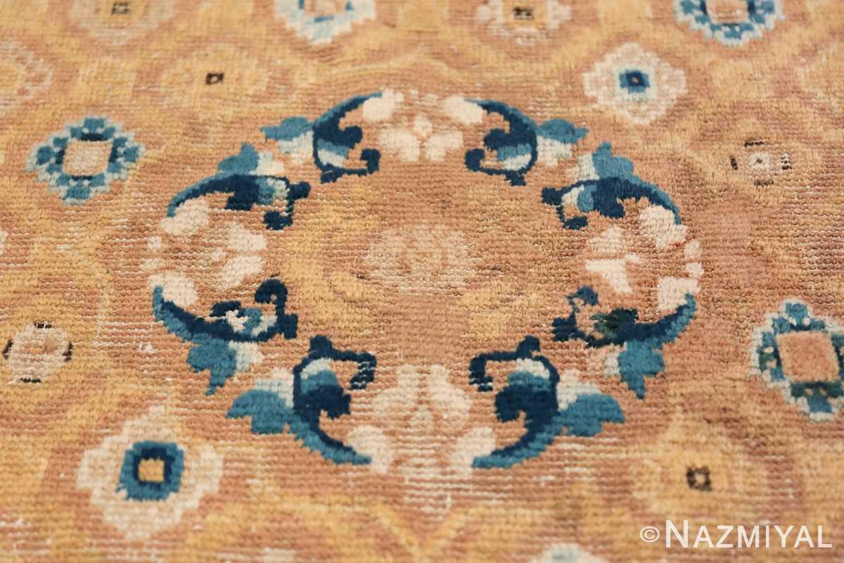 Mid 19th Century Chinese Ningxia rug 49798 central medallion Nazmiyal
