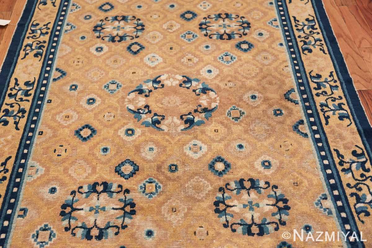 Mid 19th Century Chinese Ningxia rug 49798 floral field Nazmiyal