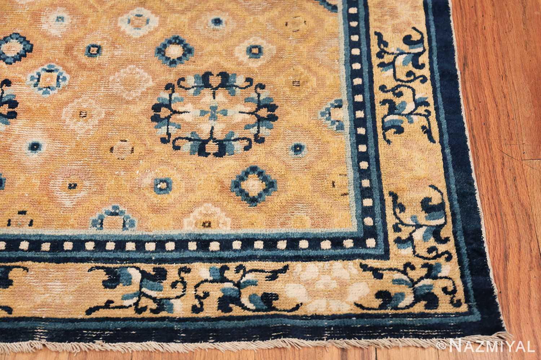 Mid 19th Century Chinese Ningxia rug 49798 geometric corner Nazmiyal