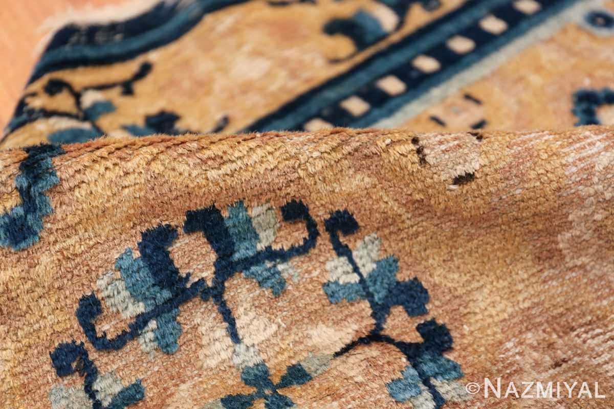 Mid 19th Century Chinese Ningxia rug 49798 golden pile Nazmiyal