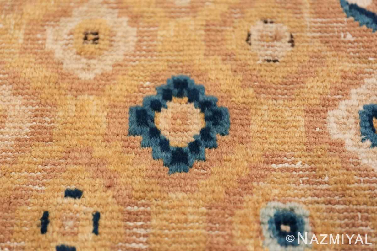 Mid 19th Century Chinese Ningxia rug 49798 golden texture Nazmiyal