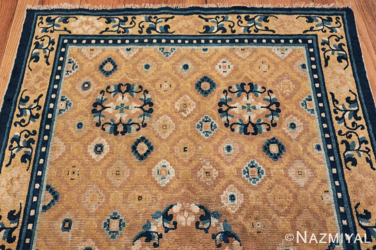 Mid 19th Century Chinese Ningxia rug 49798 knots Nazmiyal