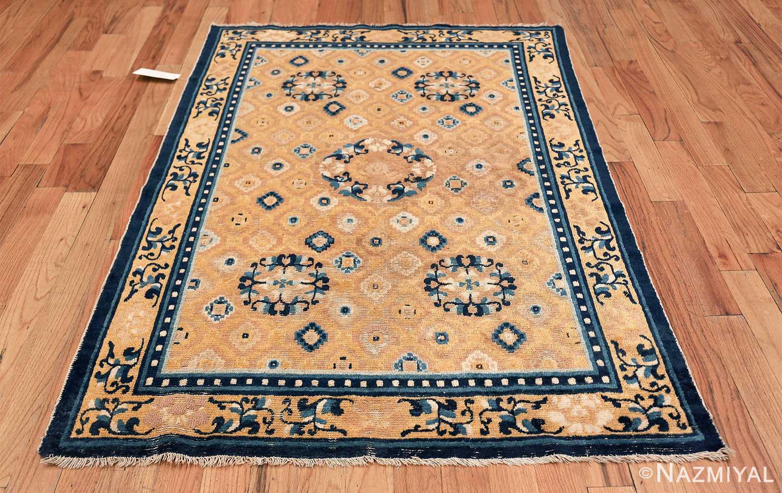 Mid 19th Century Chinese Ningxia rug 49798 whole design Nazmiyal
