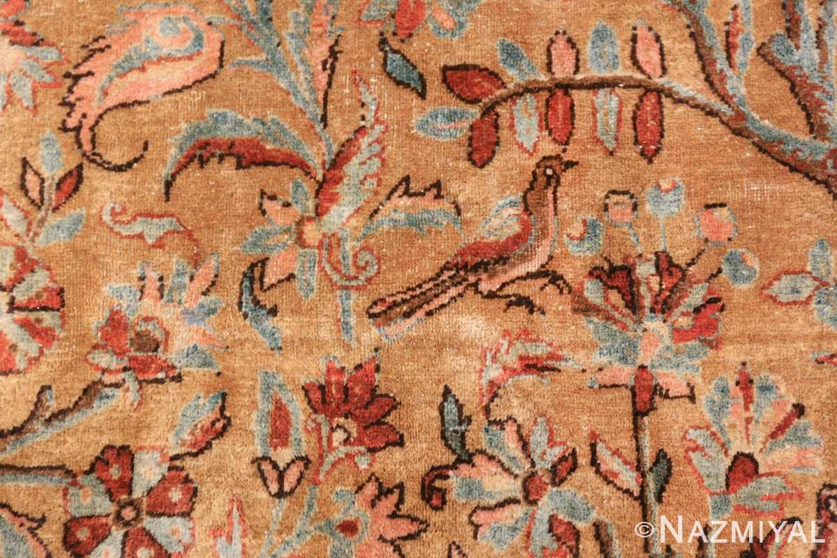 oversize animal motif antique persian kashan rug 49755 blue Nazmiyal