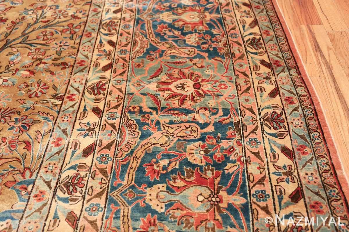 oversize animal motif antique persian kashan rug 49755 border Nazmiyal