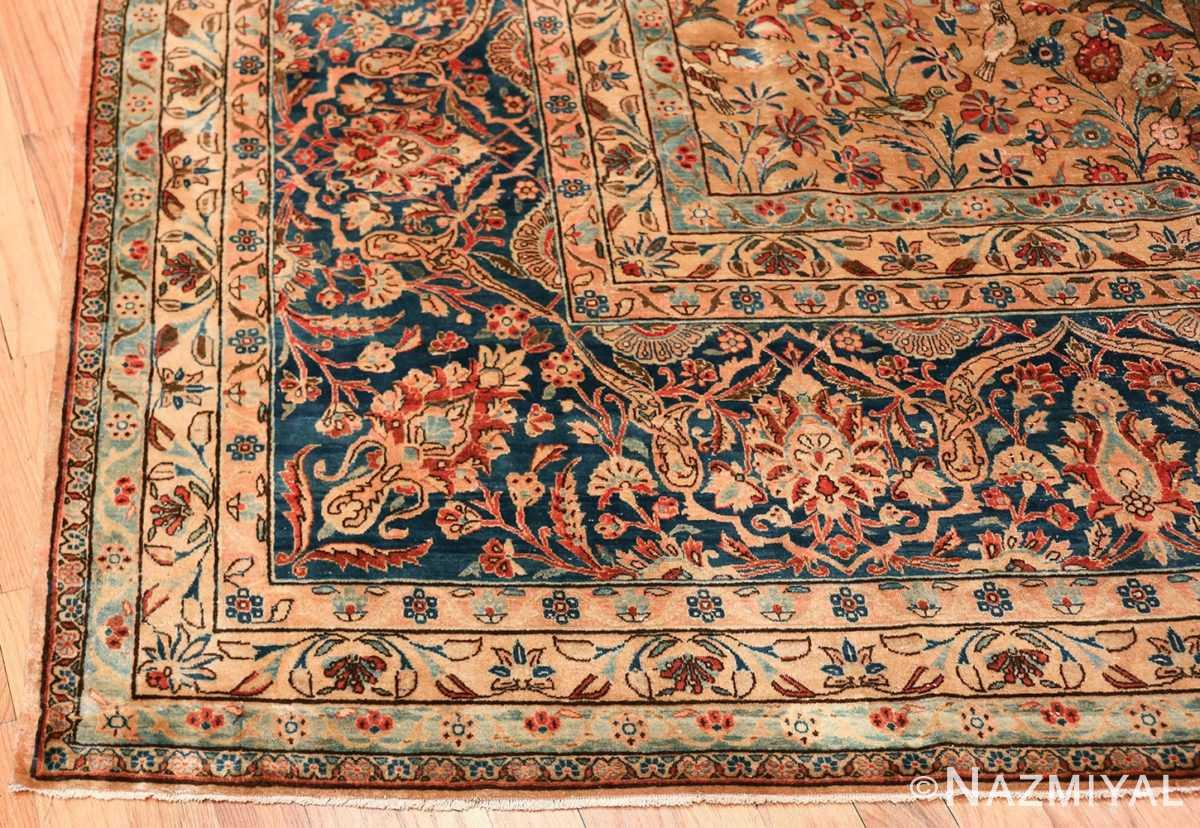 oversize animal motif antique persian kashan rug 49755 corner Nazmiyal
