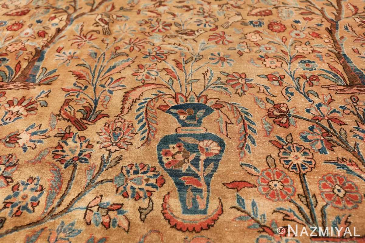 oversize animal motif antique persian kashan rug 49755 double Nazmiyal