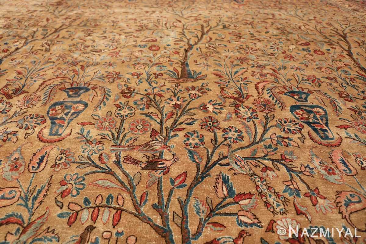 oversize animal motif antique persian kashan rug 49755 field Nazmiyal