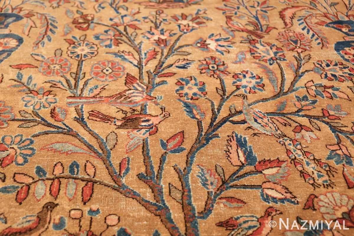 oversize animal motif antique persian kashan rug 49755 peacock Nazmiyal