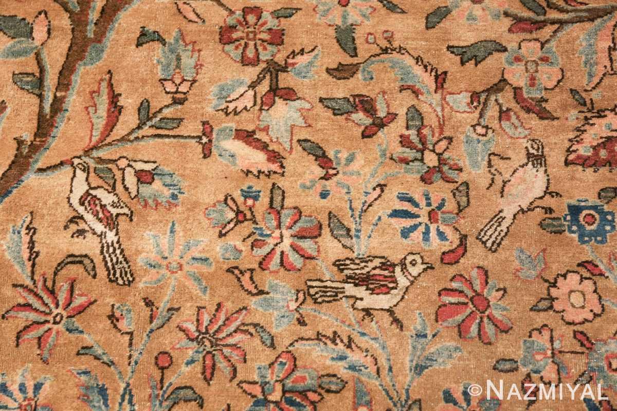 oversize animal motif antique persian kashan rug 49755 trio Nazmiyal