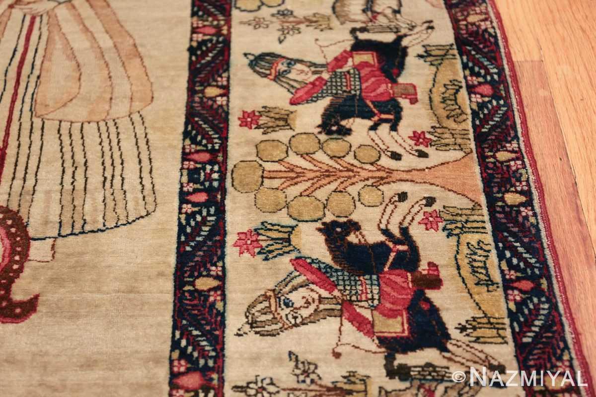 pictorial antique persian kerman rug 49778 arrow Nazmiyal