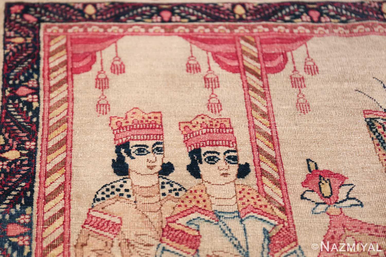 pictorial antique persian kerman rug 49778 boys Nazmiyal