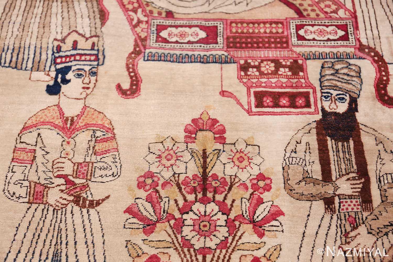 pictorial antique persian kerman rug 49778 counseller Nazmiyal