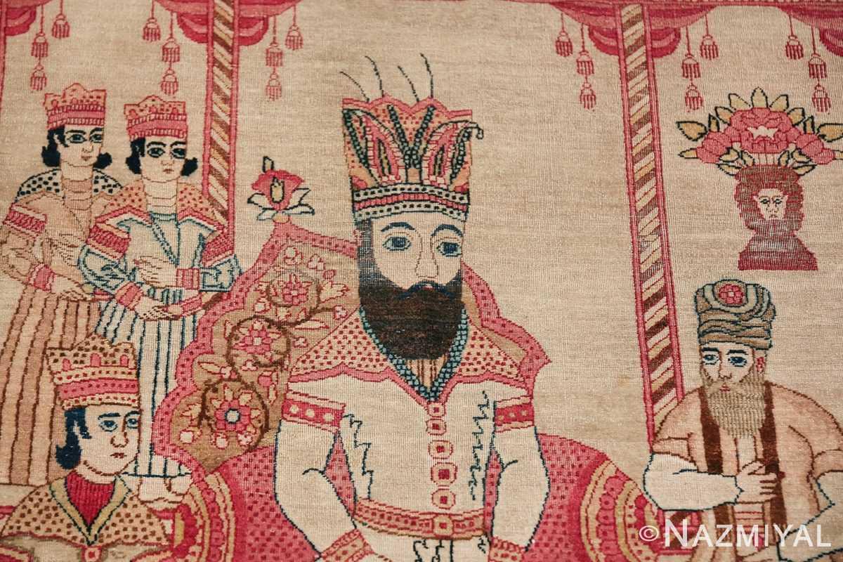 pictorial antique persian kerman rug 49778 king Nazmiyal