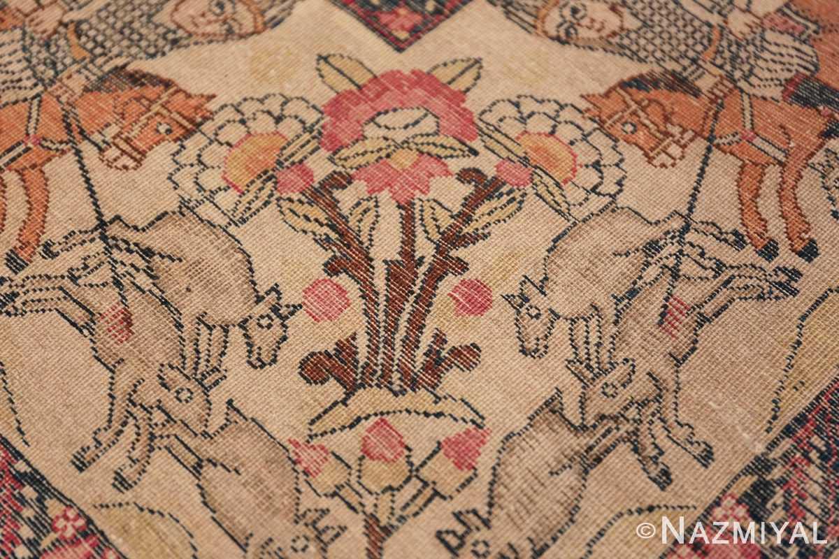 pictorial antique persian kerman rug 49778 knots Nazmiyal