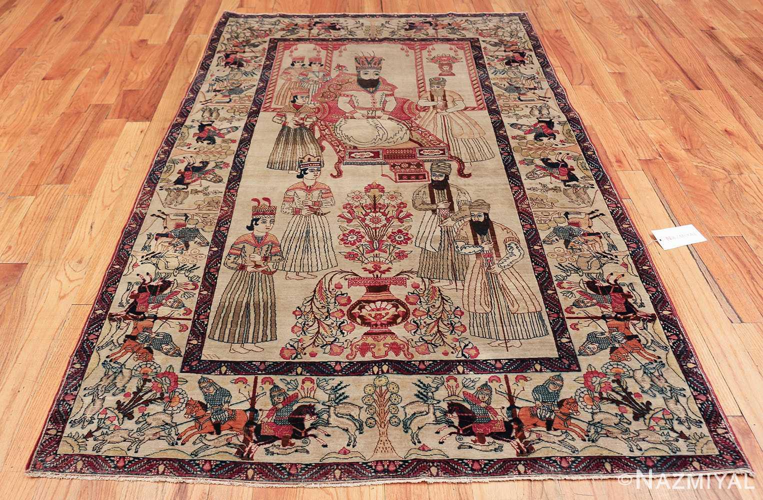 pictorial antique persian kerman rug 49778 whole Nazmiyal