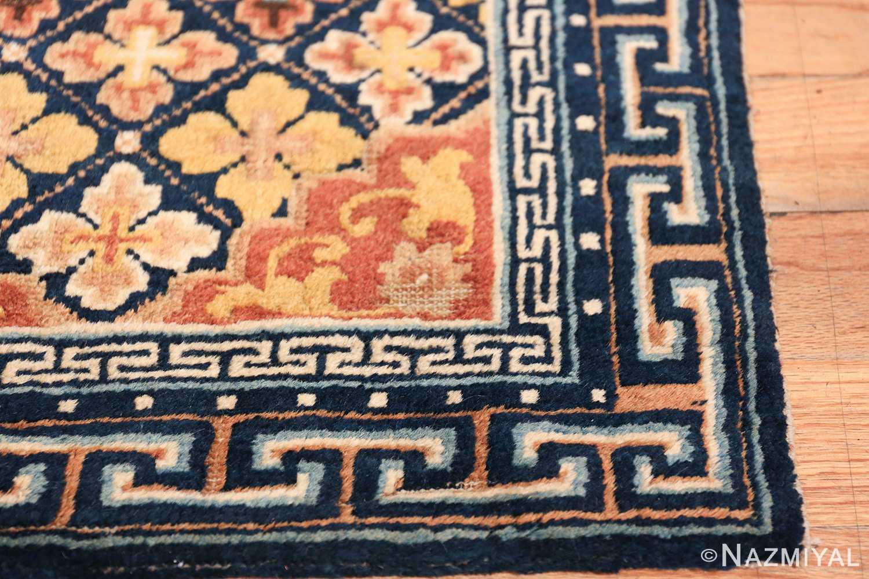 Small Size Antique Chinese Ningxia Rug 49793 detailed corner Nazmiyal