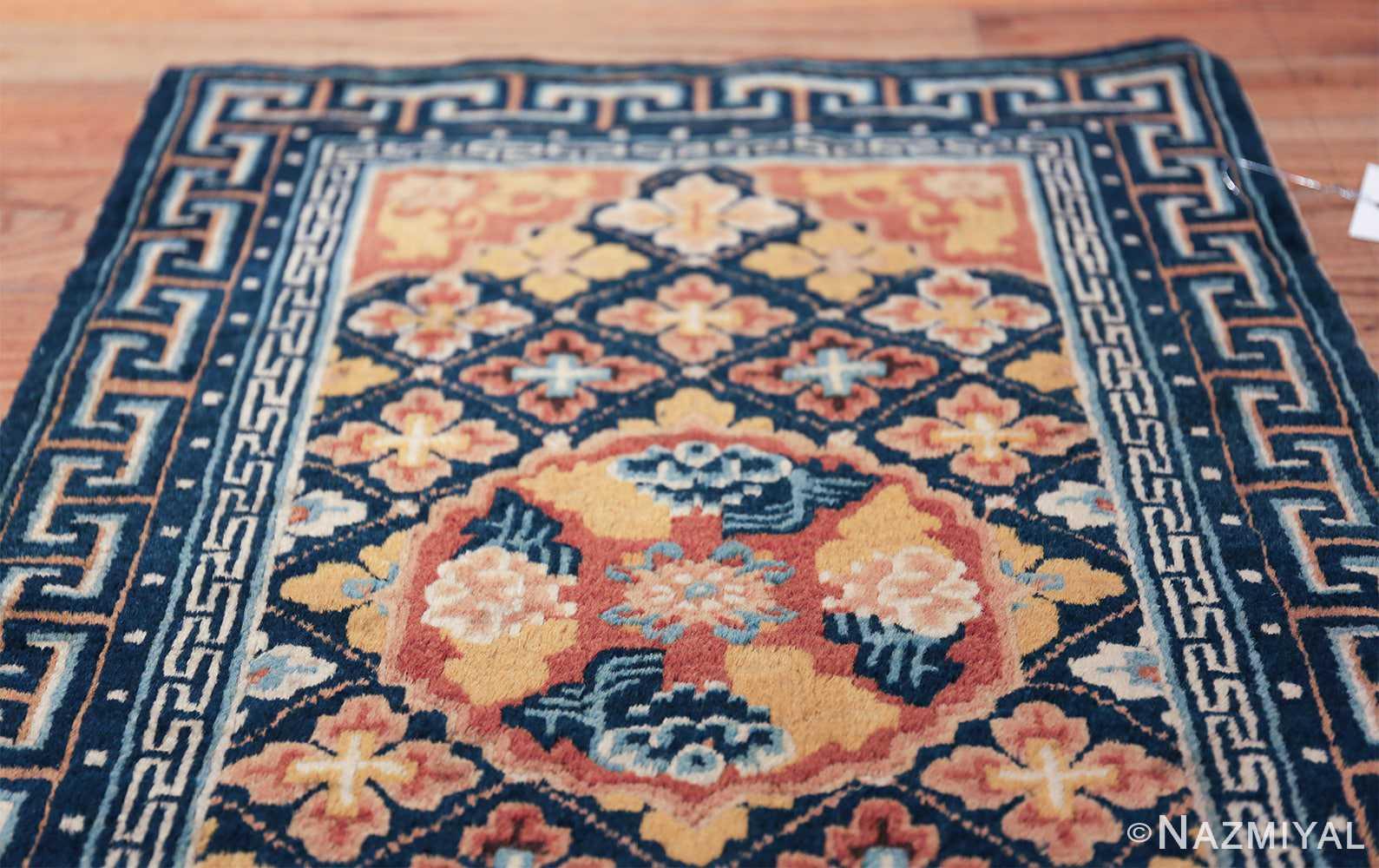 Small Size Antique Chinese Ningxia Rug 49793 top Nazmiyal