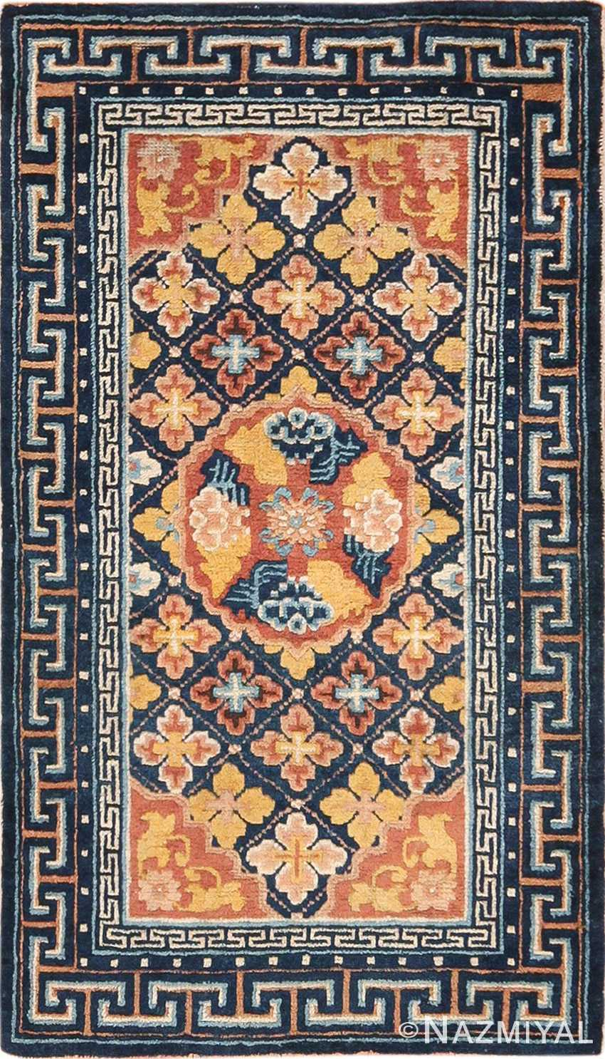Small Scatter Size Antique Chinese Ningxia Rug 49793 - Nazmiyal