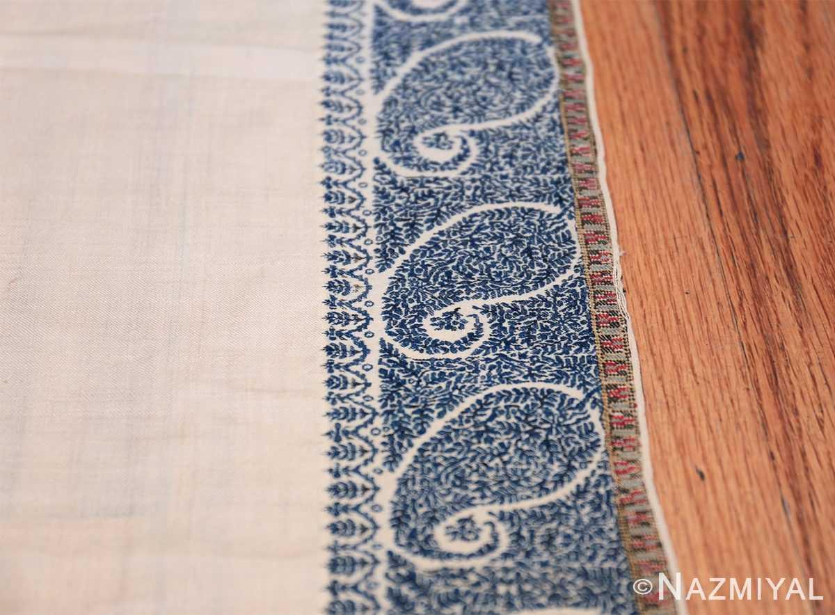 small size antique indian shawl 49781 border Nazmiyal