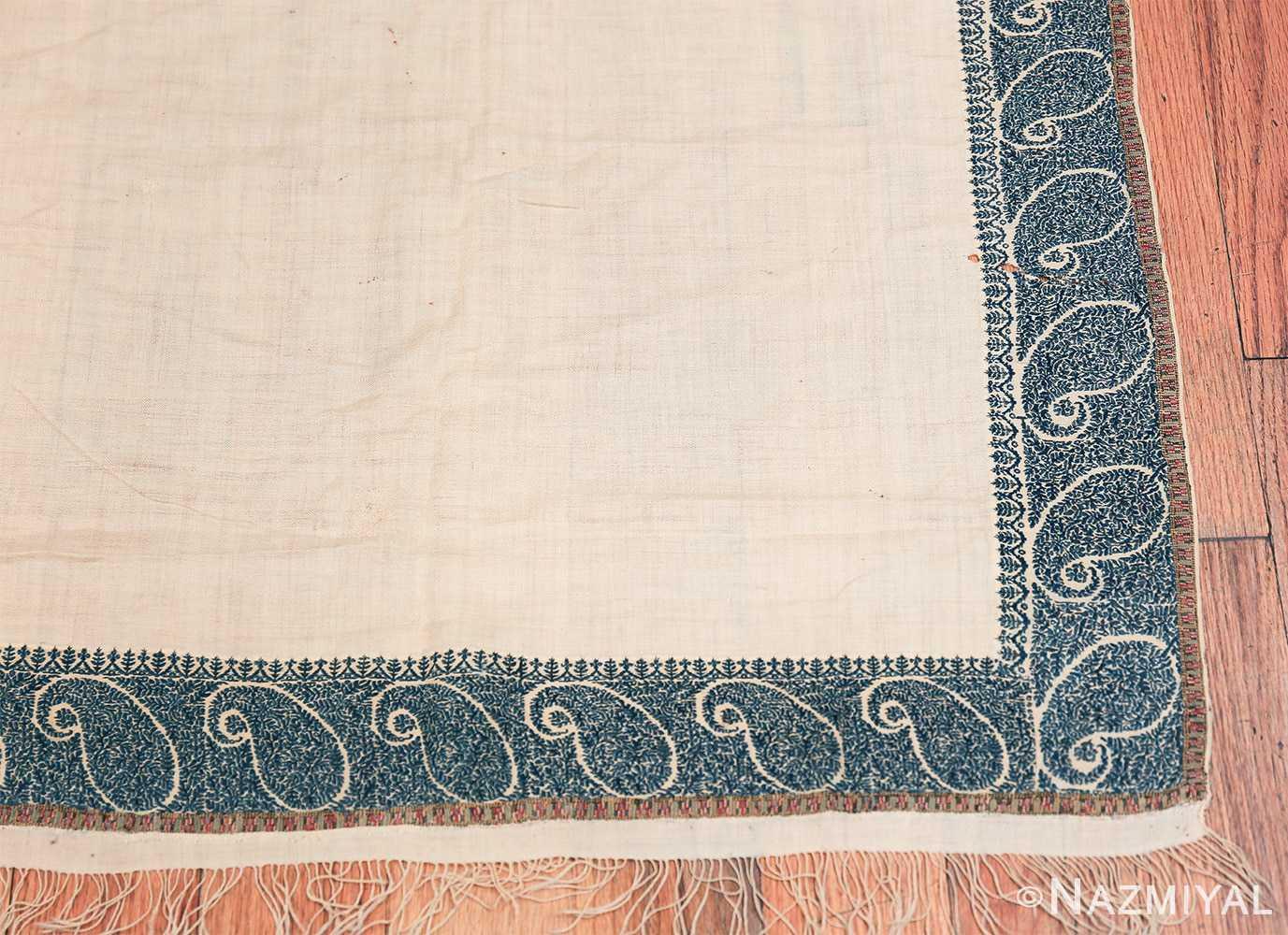 small size antique indian shawl 49781 corner Nazmiyal