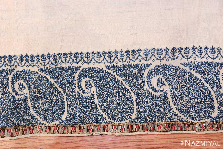 small size antique indian shawl 49781 design Nazmiyal