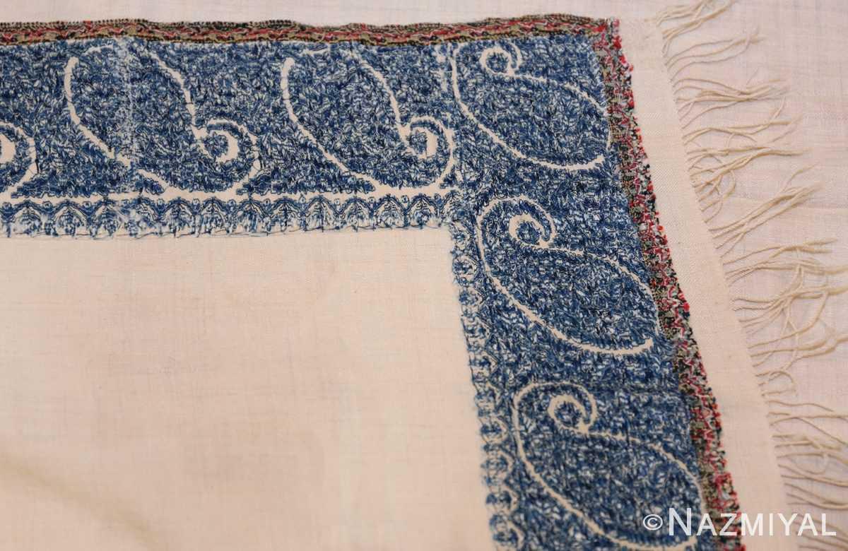 small size antique indian shawl 49781 knots Nazmiyal