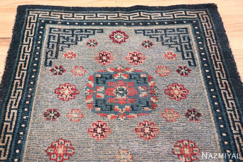 Small Size Antique Tibetan Rug 49796 floral top Nazmiyal