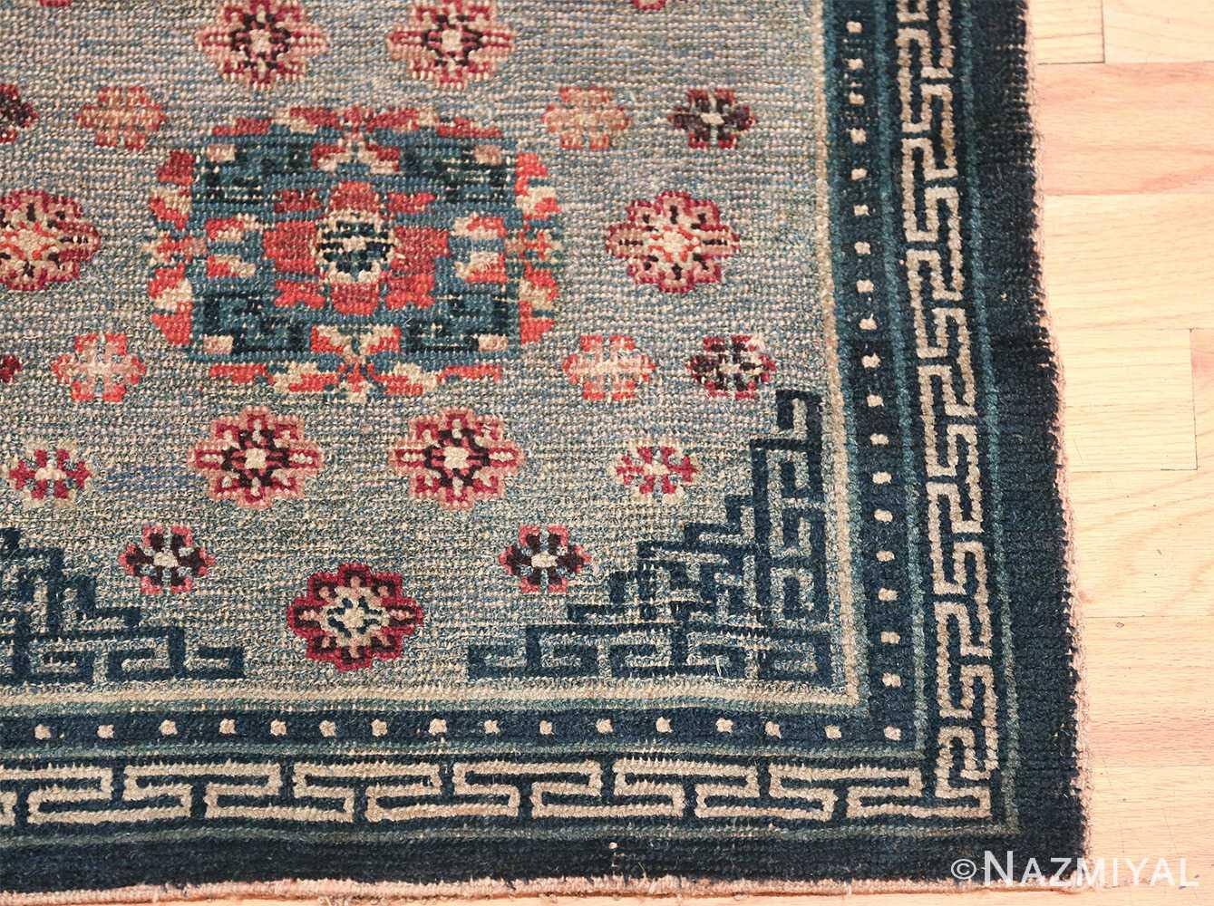 Small Size Antique Tibetan Rug 49796 geometric corner Nazmiyal