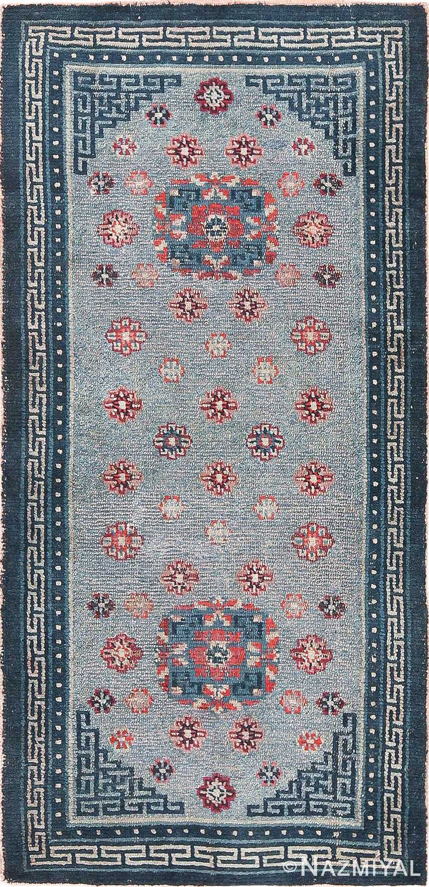 Small Scatter Size Antique Tibetan Rug 49796 - Nazmiyal