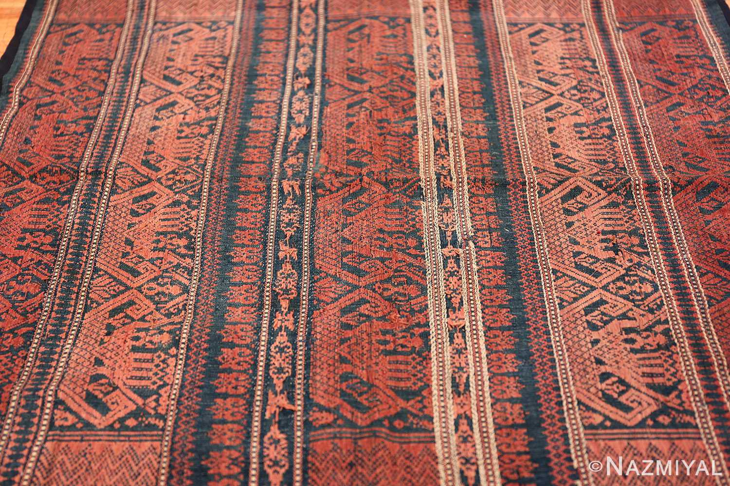 small size antique tribal african textile 49780 lines Nazmiyal