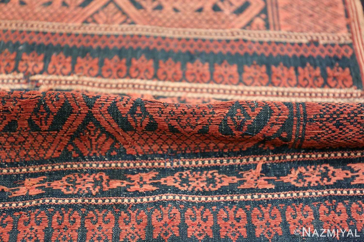 small size antique tribal african textile 49780 pile Nazmiyal