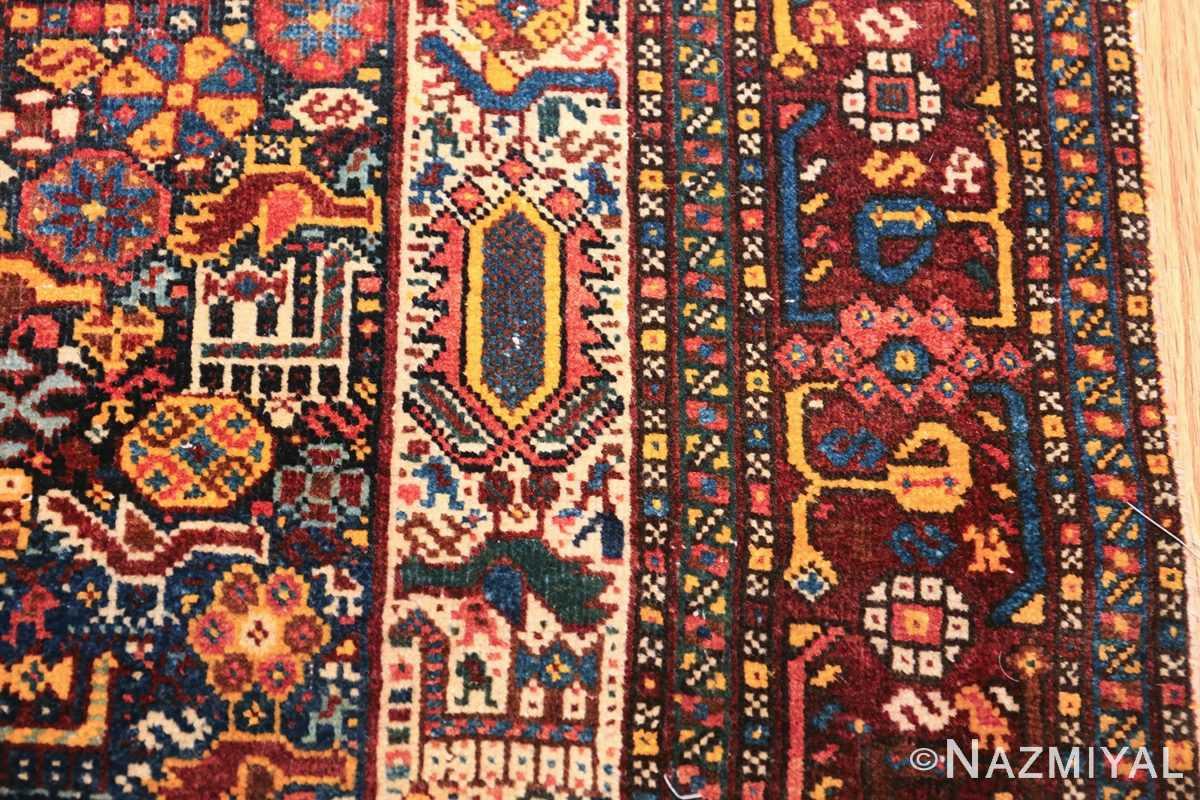 tribal antique persian qashqai rug 49768 border Nazmiyal