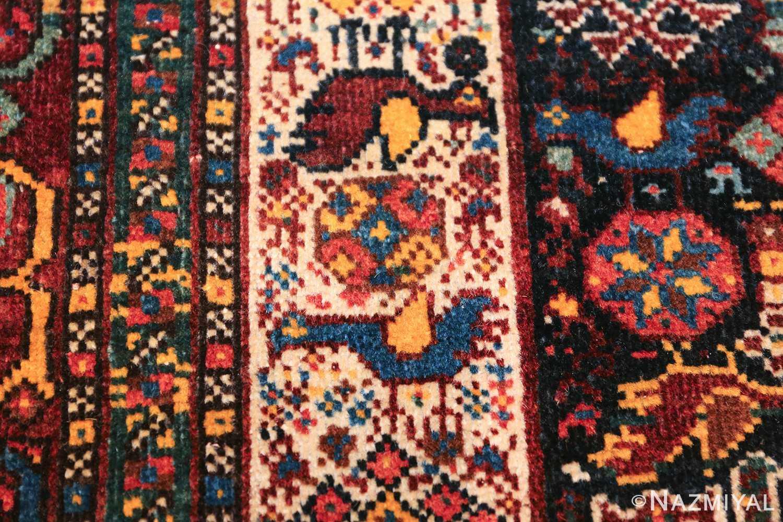 tribal antique persian qashqai rug 49768 closeup Nazmiyal