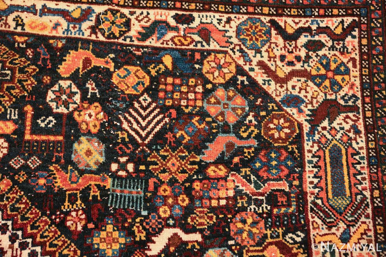tribal antique persian qashqai rug 49768 design Nazmiyal