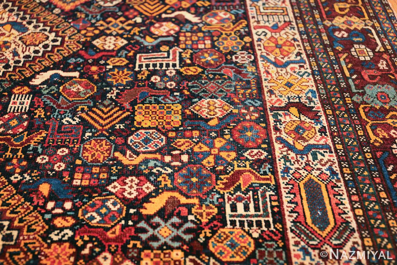tribal antique persian qashqai rug 49768 detail Nazmiyal