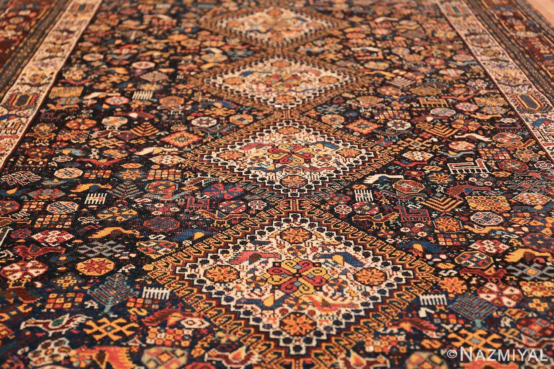 tribal antique persian qashqai rug 49768 field Nazmiyal