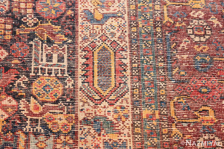 tribal antique persian qashqai rug 49768 knots Nazmiyal