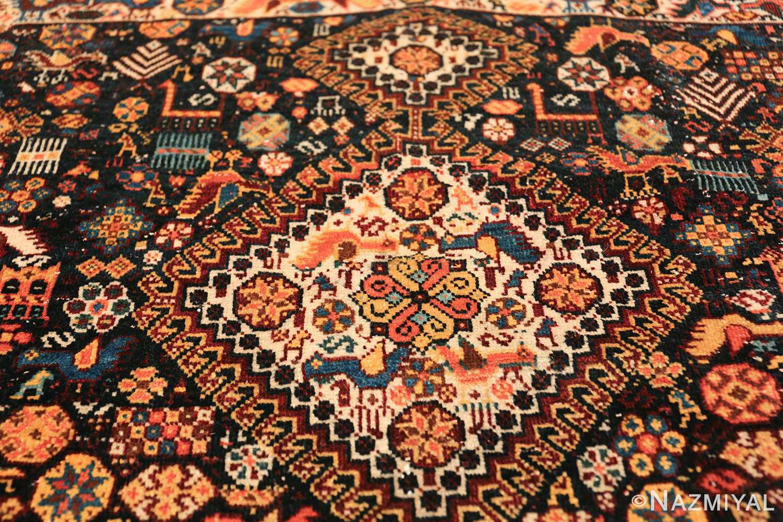 tribal antique persian qashqai rug 49768 medallion Nazmiyal