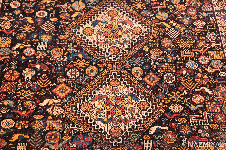 tribal antique persian qashqai rug 49768 middle Nazmiyal