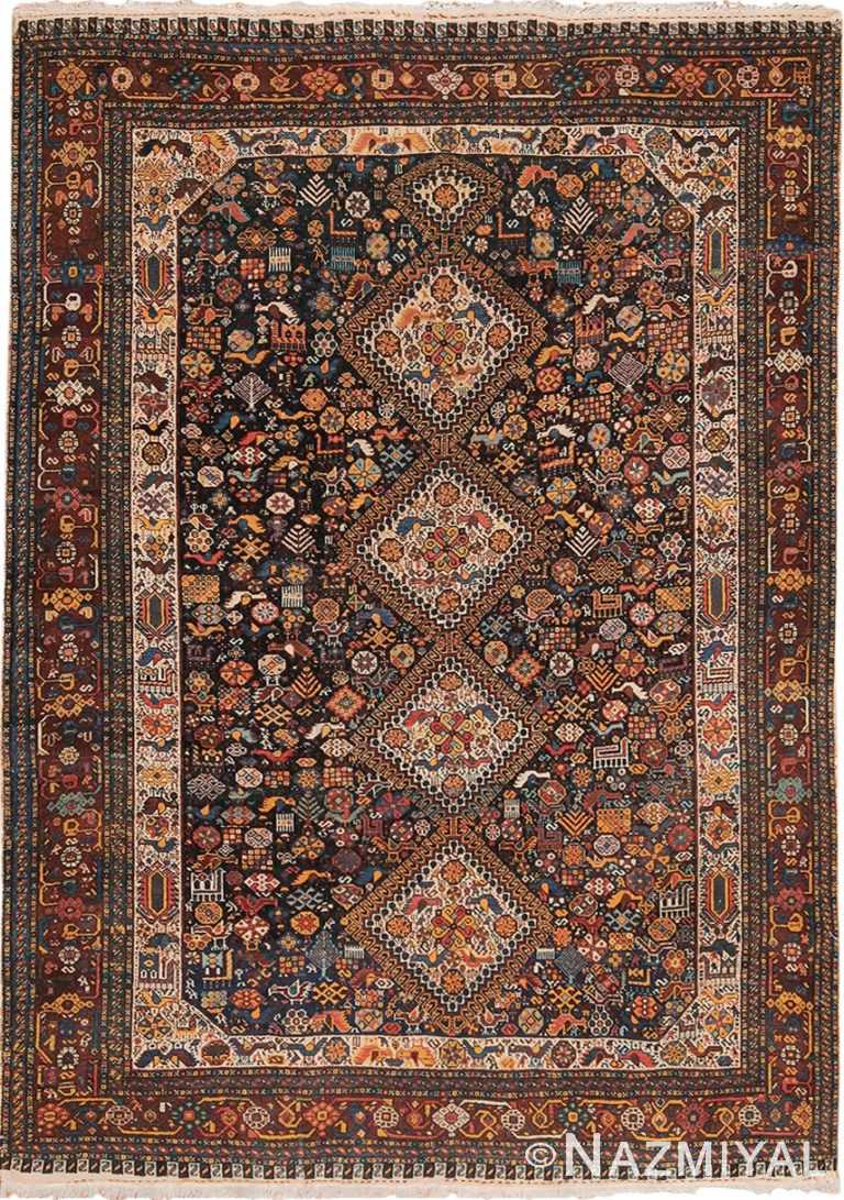 tribal antique persian qashqai rug 49768 Nazmiyal