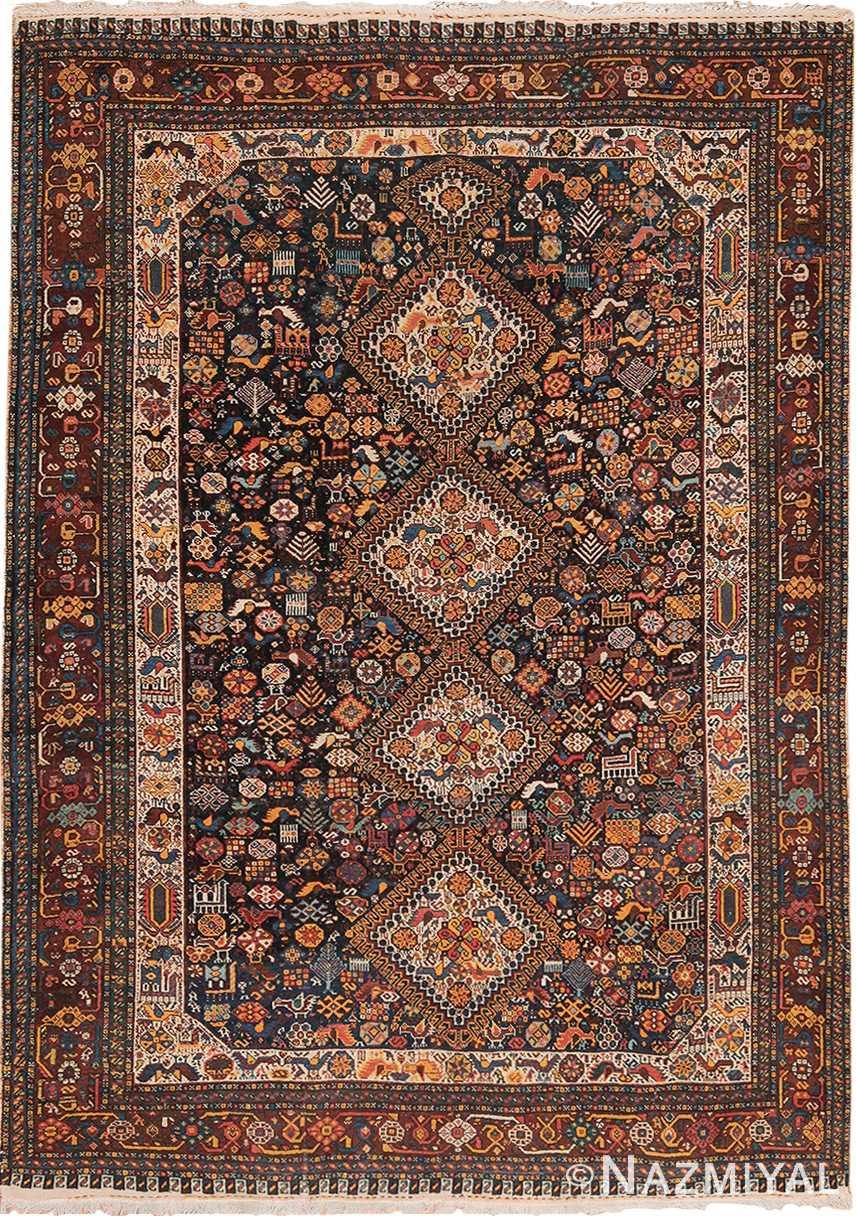 tribal antique persian qashqai rug 49768 Nazmiyal