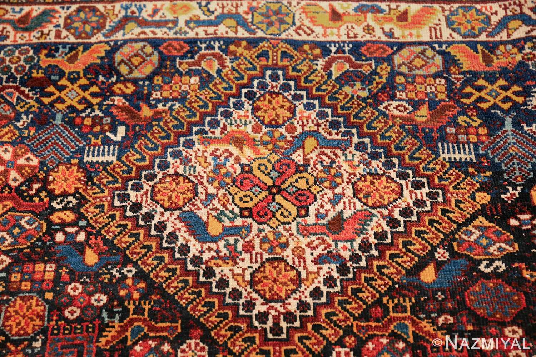 tribal antique persian qashqai rug 49768 part Nazmiyal