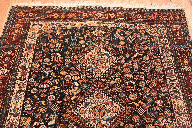 tribal antique persian qashqai rug 49768 top Nazmiyal