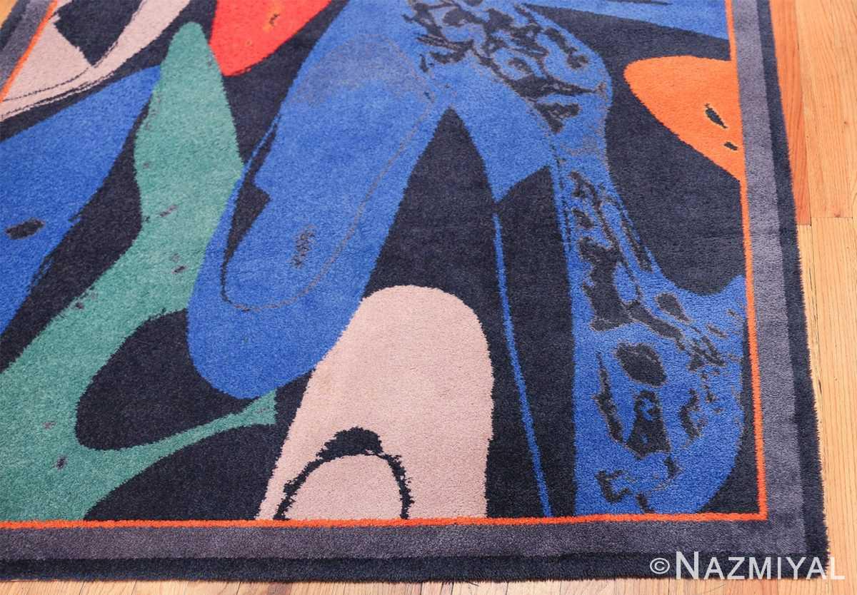 Vintage Andy Warhol Ege Art Line Diamond Dust Shoes Scandinavian rug 49784 corner Nazmiyal