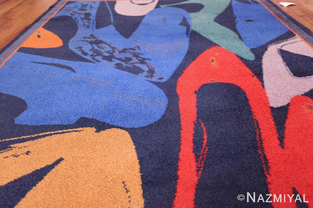 Vintage Andy Warhol Ege Art Line Diamond Dust Shoes Scandinavian rug 49784 field Nazmiyal
