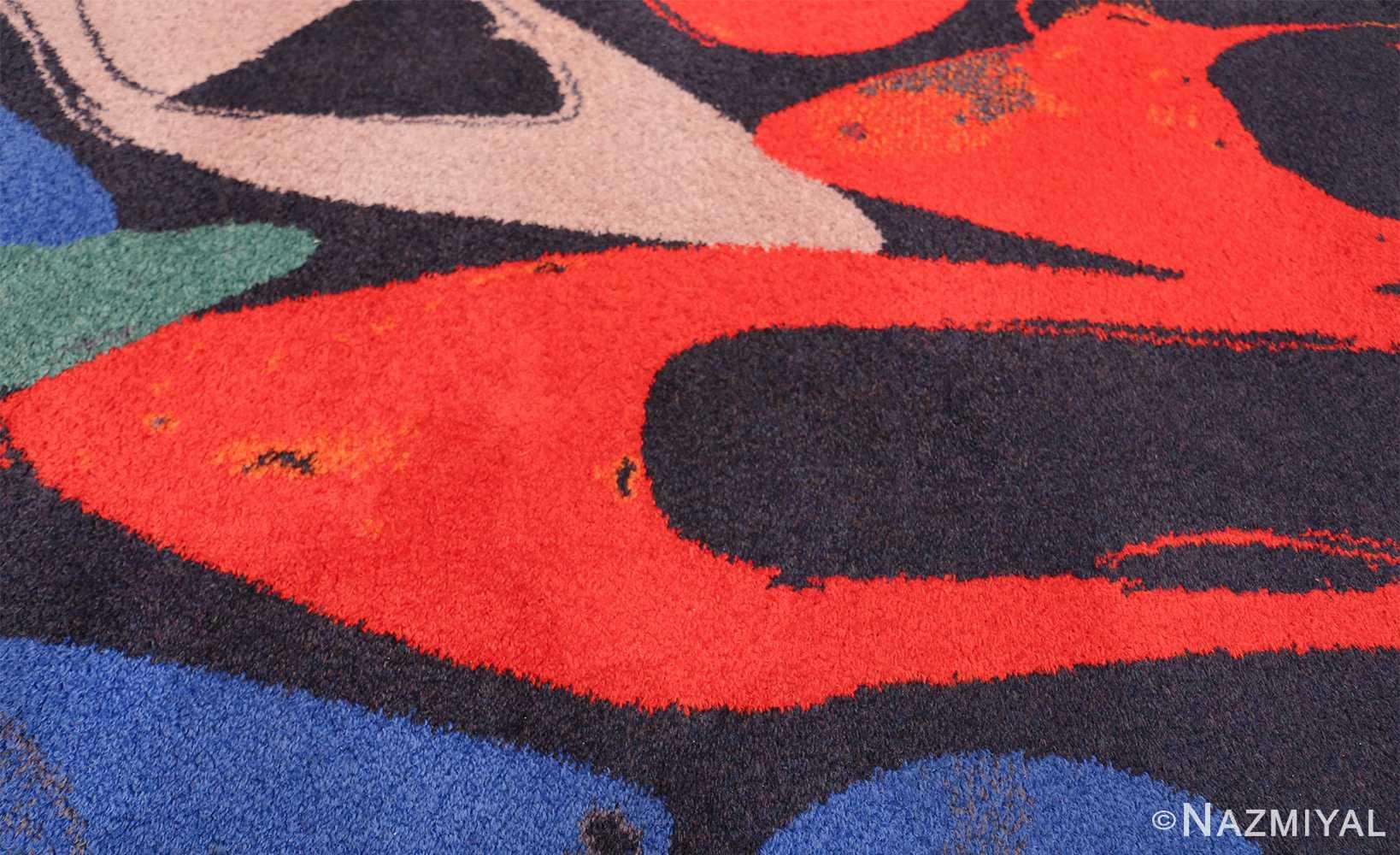 Vintage Andy Warhol Ege Art Line Diamond Dust Shoes Scandinavian rug 49784 shoes Nazmiyal