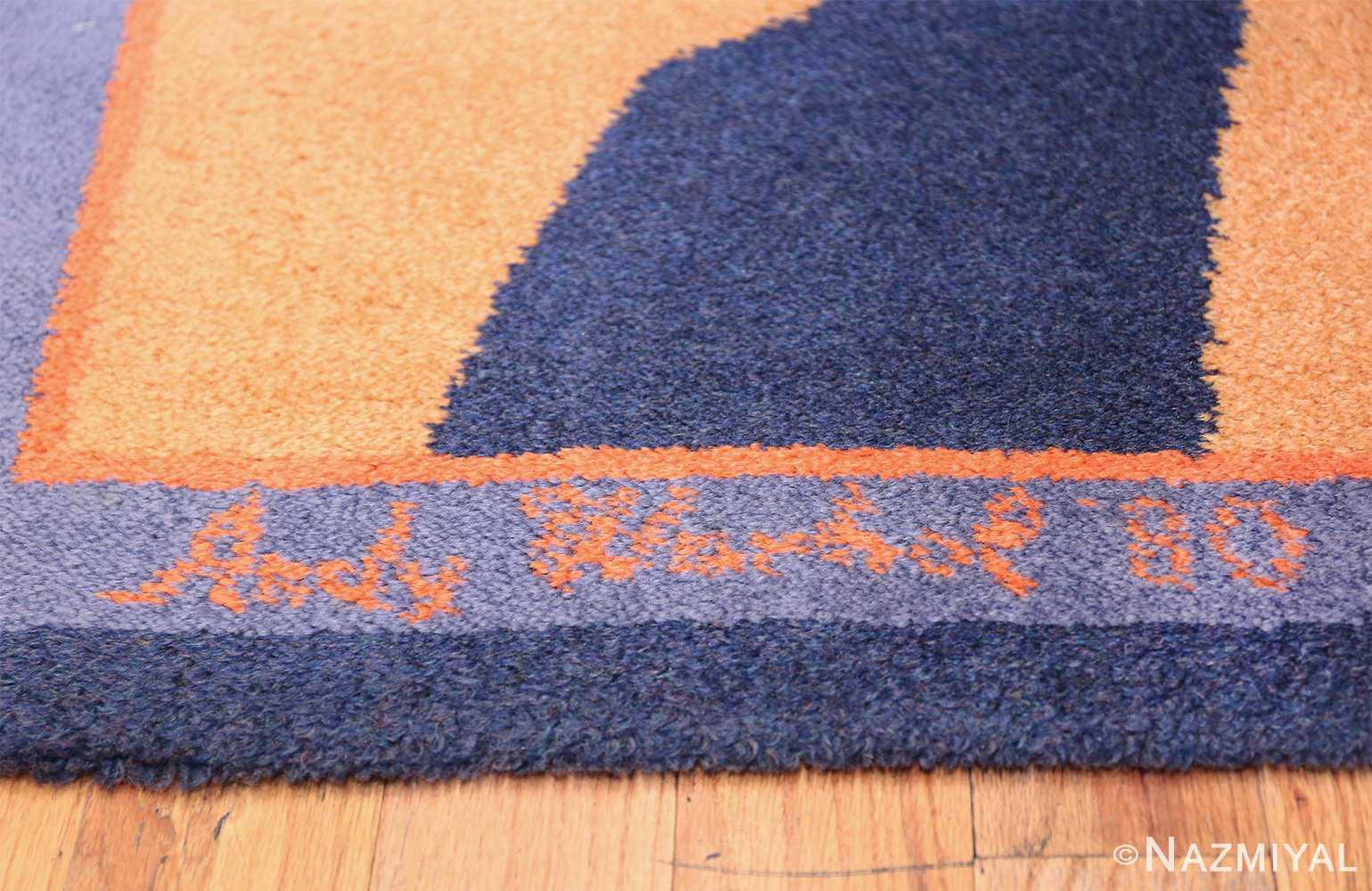 Vintage Andy Warhol Ege Art Line Diamond Dust Shoes Scandinavian rug 49784 signature Nazmiyal