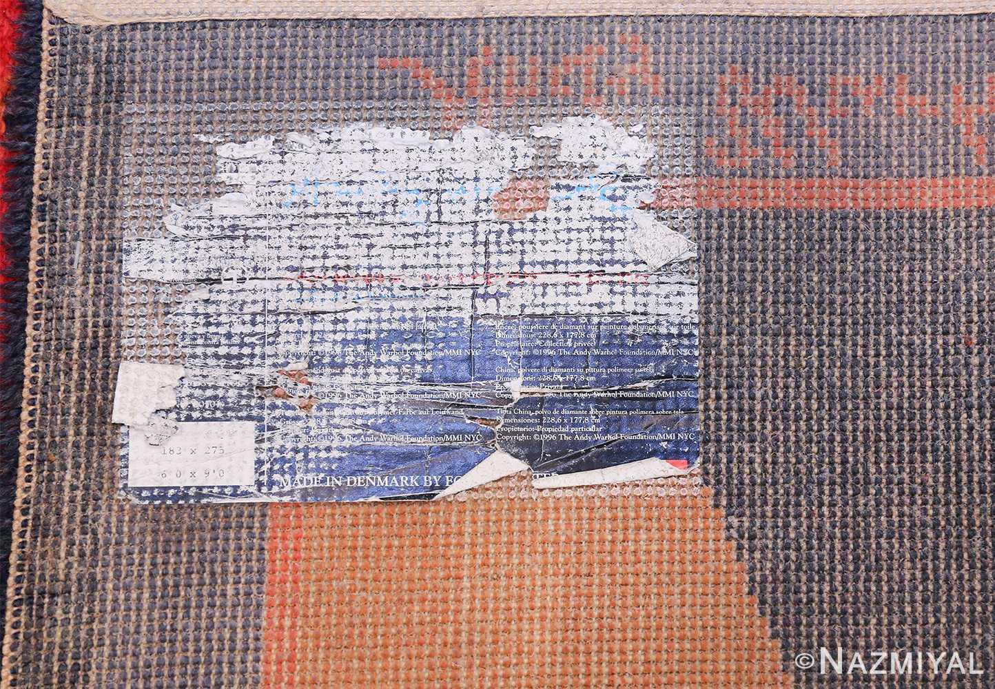Vintage Andy Warhol Ege Art Line Diamond Dust Shoes Scandinavian rug 49784 tag Nazmiyal