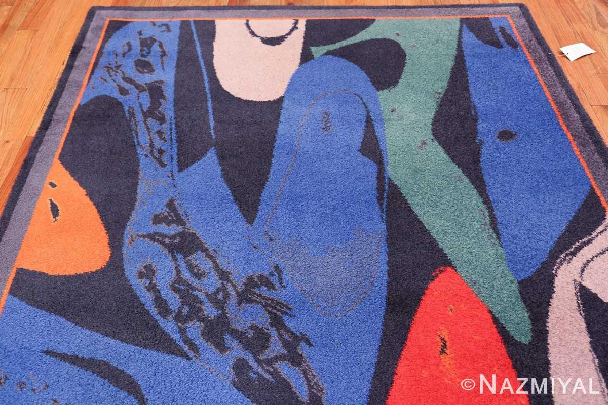 Vintage Andy Warhol Ege Art Line Diamond Dust Shoes Scandinavian rug 49784 top Nazmiyal